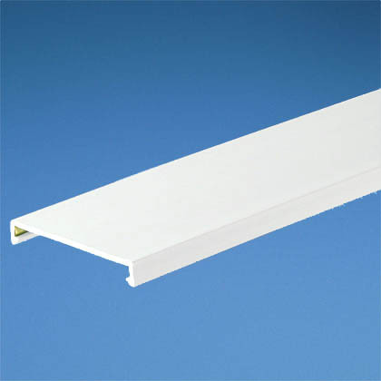 "PANDUCT Wiring Duct Cover, 1-1/2"" x 6', PVC, White"