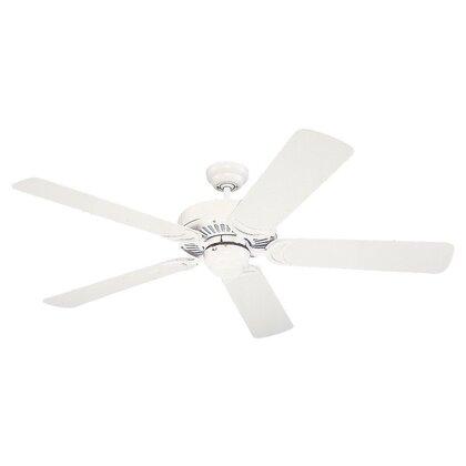 "52"" Paddle Fan, 5-Blade, White/Pine"