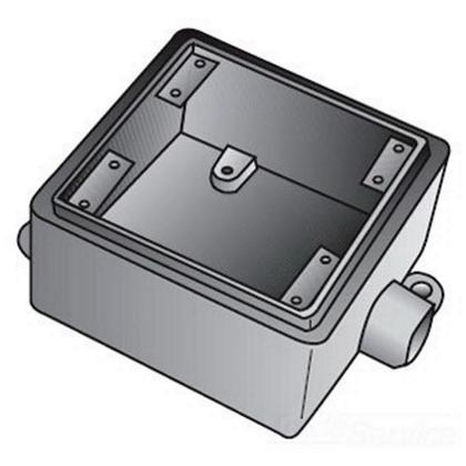 FS 2 GANG CAST BOX 1/2 IN HUB