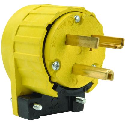 2P/3W 30A 125V Angle Plug