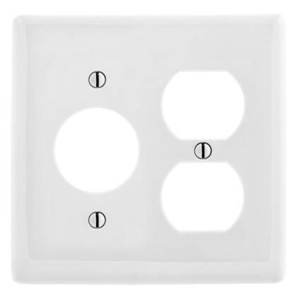 """WALLPLATE, 2-G, 1) DUP 1) 1.40"""" OPNG, WH"""
