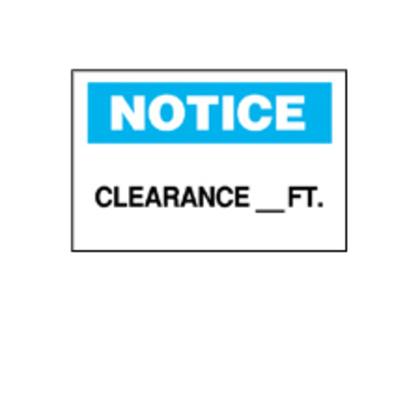 Sgn,B401,Bk/Bl/Wt,10x7,NOT CLEARANC,1 EA