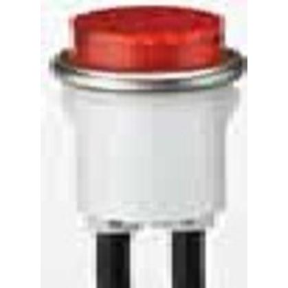 Red Indicator Light, Raised, 125VAC, Red