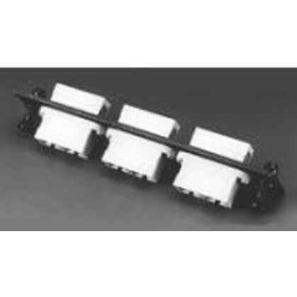 ST Adapter Plate, Duplex, 12 Port, Beige/Black, Aluminum
