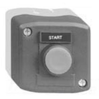 Control Station, 22.5mm, Flush Black Push Button, START, 1NO