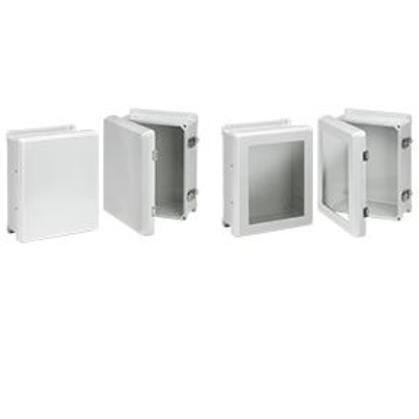 Flat Hinged Latch Window Cover Enclosure