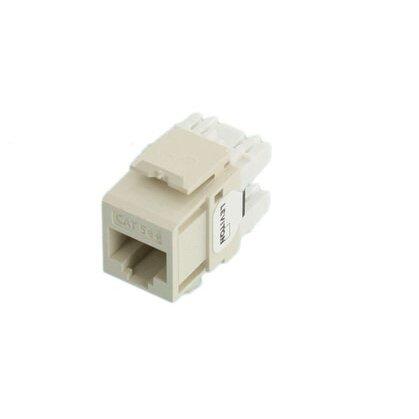 Cat 5e QuickPort Connector, Light Almond