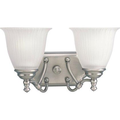 Bath Light, 2 Light, 100W, Antique Nickel