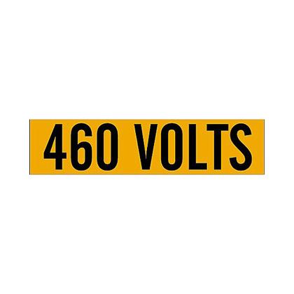 Label,B498,9x2.25,Bk/Or,460 VOLTS,1/CQ