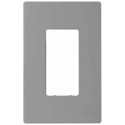 Wallplate 1G Deco Screwless Poly Mid GY 4665943