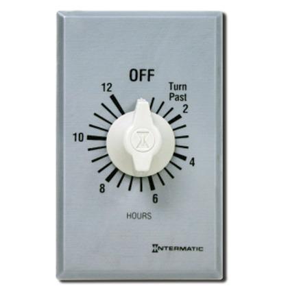 12-Hour DPST Timer, Brushed Aluminum/Sandstone