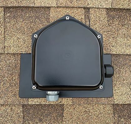 ROOFTOP PV JUNCTION BOX ASPHALT SHINGLE