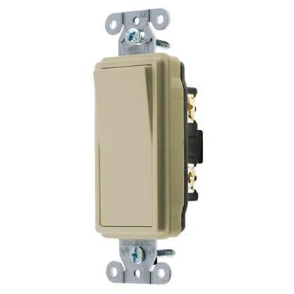 Decora Switch, 15A, 120/277V, Ivory, Single-Pole