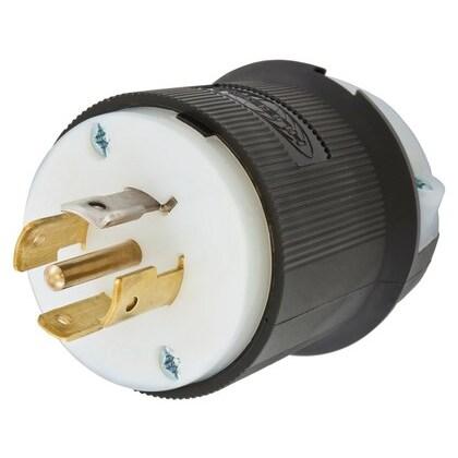 Twist-Lock Plug, 20A, 3PH Y 120/208, 4P5W, Black/White