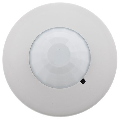 Ceiling Sensor, Low Profile, Passive Infrared, 1500 Sq. Ft., White
