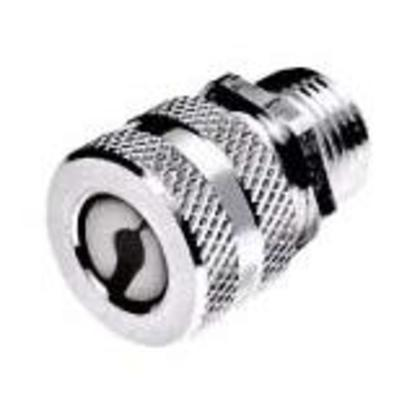 """3/4"""" Steel Straight Cord Connector, F2 Form, Zinc-Plated, 0.50-0.63"""""""