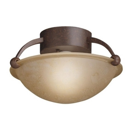 1-Light Ceiling Semi-Flush Ceiling, Tannery Bronze *** Discontinued ***