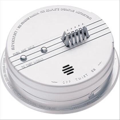 Heat Detector, 135° F, White, 120VAC, 9V Battery Backup