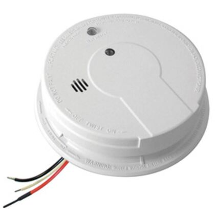 Smoke Alarm, Hard Wired, 120V AC/DC, 9V Battery Back-Up