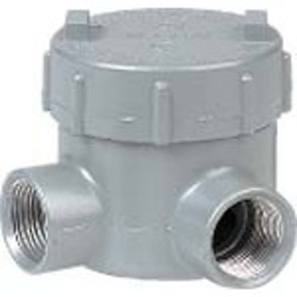"Conduit Outlet Box, Type GEML, (2) 1/2"" Hubs, Aluminum"