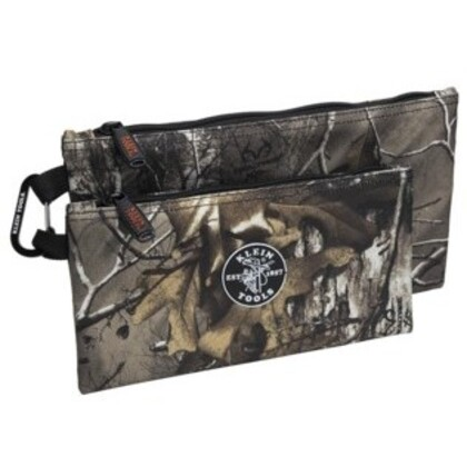 Zipper Bags, Camo Tool Pouches, 2-Pack