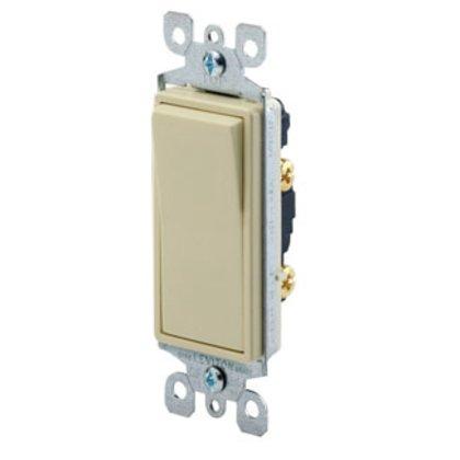 Illuminated Decora Rocker Switch, 1-Pole, 15A, 120/277V, Light Almond