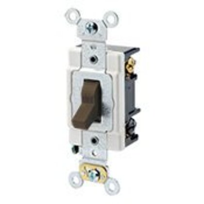 Heavy Duty 3-Way Toggle Switch, 20A, 120/277V, Brown, Industrial