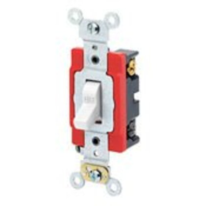 Heavy Duty 4-Way Toggle Switch, 20A, 120/277V, White, Industrial