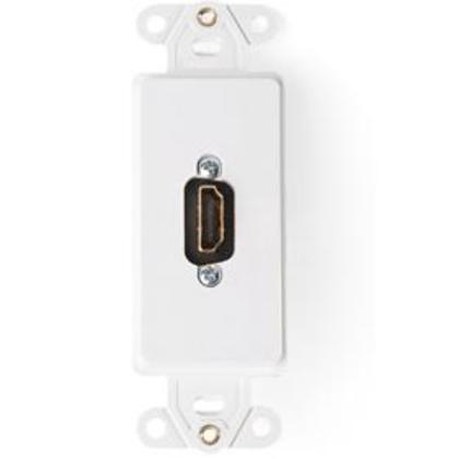 Wallplate Insert, Decora, HDMI Feedthrough Connector, White
