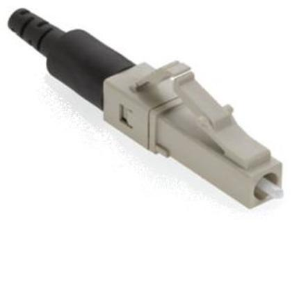 Connector, Multimode, Pre-Polished, Fiber Optic, FastCam LC, Beige