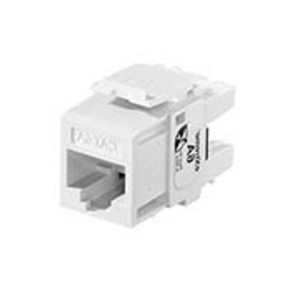 Snap-In Connector, QuickPort, eXtreme 10G, CAT 6A, White