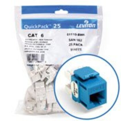 Snap-In Connector, eXtreme 6+, CAT 6, Blue, 25 in a Bag