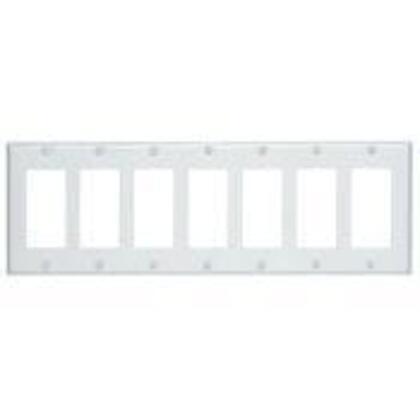 Decora Wallplate,7- Gang, Thermoset, White
