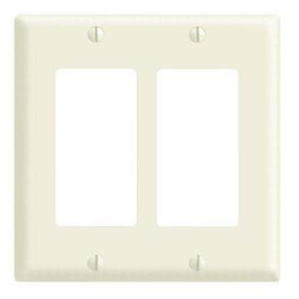 Decora Wallplate, 2-Gang, Thermoset, Ivory, Midway
