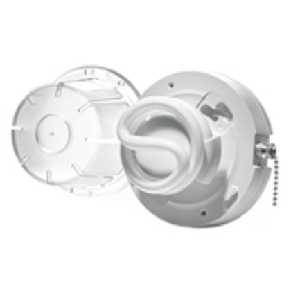 CFL Lampholder, w/ Pull Chain and Lamp Guard Lens, 13W *** Discontinued ***