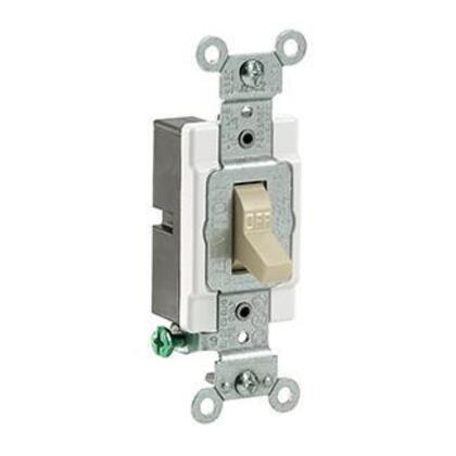 1-Pole Switch, 20 Amp, 120/277V, Ivory, Side Wired, Commercial
