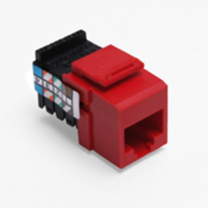 Voice Grade QuickPort Connector, 8P8C, Crimson