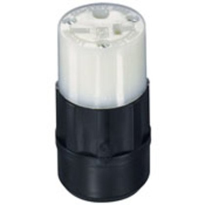 15 Amp Connector, 250V, 6-15R, Nylon, Black/White, Indication