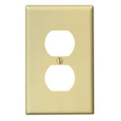 Duplex Receptacle Wallplate, 1-Gang, Nylon, Blue, Midway
