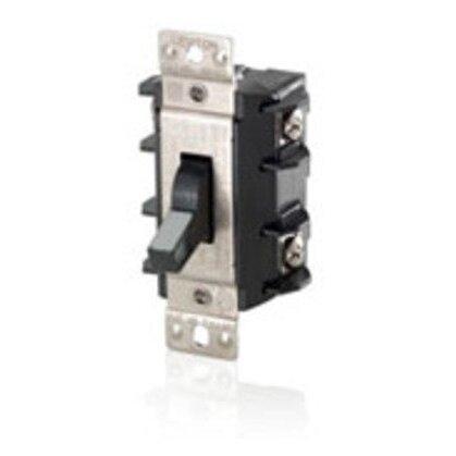 Manual Motor Switch, 30A, 600VAC, Toggle Style, 2P, Black