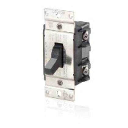 Manual Motor Switch, 40A, 600VAC, Toggle Style, 2P, Black