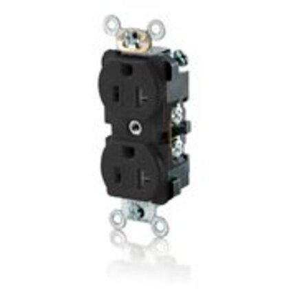Tamper Resistant Duplex Receptacle, 20A, 125V, Black, 5-20R