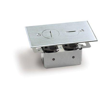Floor Plate Assembly, Receptacle Box, Aluminum