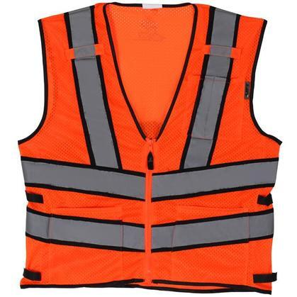 Safety Vest, Viz-Pro 2 - Size: Large, Orange