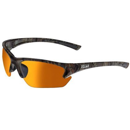 Quest Protective Eyewear, Half Frame, Camo Frame, Amber Lens