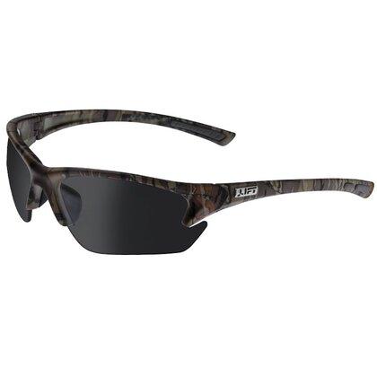 Quest Protective Eyewear, Half Frame, Camo Frame, Smoke Lens