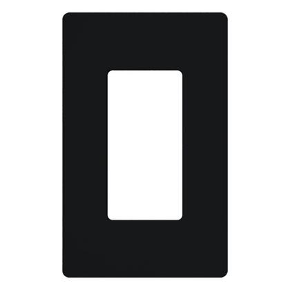 Dimmer/Fan Control Wallplate, 1-Gang, Black, Claro Series