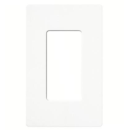 Dimmer/Fan Control Wallplate, 1-Gang, White, Claro Series