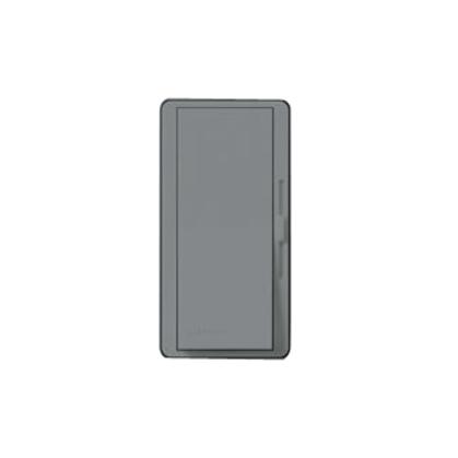 Slide Dimmer, Decora, 600W, Single-Pole, Diva, Gray