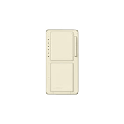 Incandescent/Halogen Dual Dimmer and Switch, Light Almond